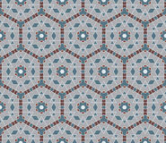 Naadloos mozaïekpatroon in oosterse stijl Royalty-vrije Stock Afbeeldingen