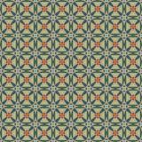 Naadloos mozaïekpatroon in retro stijl Stock Afbeeldingen