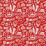 Naadloos muziekpatroon Stock Foto
