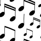 Naadloos muziekpatroon met nota vector illustratie