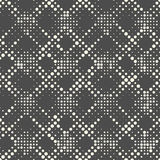Naadloos Netpatroon Vector Zwart-wit Dots Background Stock Foto's