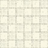 Naadloos Netpatroon Vector zwart-witte achtergrond Regula Stock Afbeeldingen