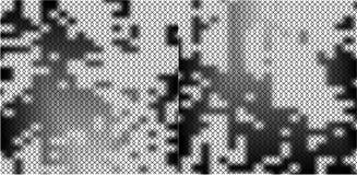 Naadloos netwerkpatroon op zwart-witte gradiëntachtergrond Stock Afbeelding
