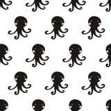 Naadloos octopuspatroon Stock Foto's