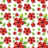 Naadloos ontwerp als achtergrond met rode bloemen stock illustratie