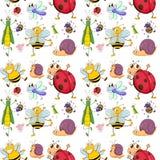 Naadloos ontwerp met insecten vector illustratie