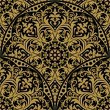 Naadloos oosters patroon Het damast Wallpaper Abstract naadloos p royalty-vrije illustratie