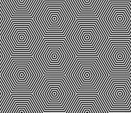 Naadloos op kunstpatroon Geometrische lijnentextuur stock illustratie
