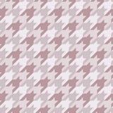 Naadloos oppervlaktepatroon met houndstoothornament De klassieke druk van de manierstof Gecontroleerde geometrische achtergrond royalty-vrije illustratie