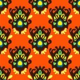 Naadloos Oranje patroon Royalty-vrije Stock Afbeeldingen