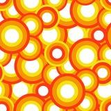 Naadloos oranje patroon royalty-vrije illustratie