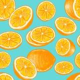 Naadloos oranje patroon Stock Afbeelding