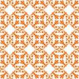 Naadloos Oranje Patroon op Witte Achtergrond Royalty-vrije Stock Afbeelding