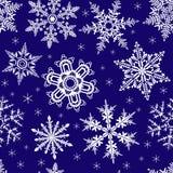 Naadloos ornament met sneeuwvlokken Stock Afbeelding