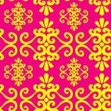 Naadloos ornamentbehang Royalty-vrije Stock Afbeeldingen