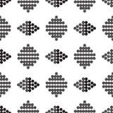 Naadloos ornamentcijfer van grijs en zwarte cirkels Stock Foto
