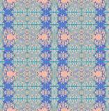 Naadloos ornamenten blauw roze verticaal royalty-vrije illustratie