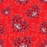 Naadloos ornamenthart. Stock Afbeelding