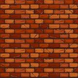 Naadloos oud Bakstenen muur Achtergrondtextuurpatroon stock illustratie