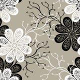 Naadloos Overladen Bloemenpatroon Royalty-vrije Stock Afbeelding