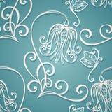 Naadloos Overladen Bloemenpatroon met Vlinders Royalty-vrije Stock Afbeeldingen
