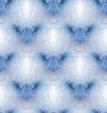 Naadloos overladen mozaïekpatroon in viooltje, blauw en wit stock illustratie