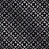 Naadloos overlappend cirkelpatroon in zilveren en zwart vector illustratie