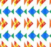 Naadloos overzees patroon met vissen Stock Afbeelding
