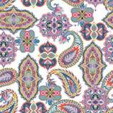 Naadloos Paisley patroon Kleurrijk bloemenornament Oosters ontwerp voor stof, drukken, verpakkend document, kaart, uitnodiging, w stock illustratie