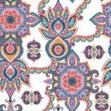 Naadloos Paisley patroon Oosters ontwerp voor stof, drukken, verpakkend document, kaart, uitnodiging, behang royalty-vrije illustratie
