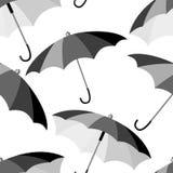 Naadloos paraplupatroon Royalty-vrije Stock Afbeelding