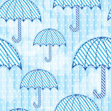 Naadloos paraplupatroon Stock Afbeelding