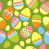 Naadloos Pasen patroon met eieren Stock Foto's