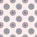 Naadloos pastelkleur bloemenpatroon, vectorillustratie Stock Fotografie