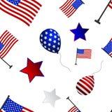 Naadloos patroon aan de dag van onafhankelijkheid van de V.S. vector illustratie