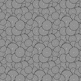Naadloos patroon Abstract spiraalvormig Psychedelisch Art Background Ve Royalty-vrije Stock Afbeelding