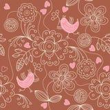 Naadloos patroon - abstracte bloemen royalty-vrije illustratie