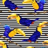 Naadloos patroon, achtergrond met vogels Vector illustratie vector illustratie