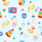 Naadloos patroon, achtergrond, van een reeks mooie babypictogrammen vector illustratie