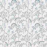 Naadloos patroon als achtergrond met bladeren Royalty-vrije Stock Afbeelding