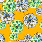 Naadloos patroon als achtergrond met paraplu's watercolor Stock Foto's