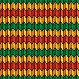 Naadloos patroon als achtergrond in rastakleuren Stock Afbeelding