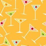 Naadloos Patroon Als achtergrond van Alcoholische Cocktail Royalty-vrije Stock Fotografie