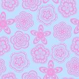 Naadloos patroon als achtergrond van roze bloemen Stock Foto's