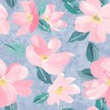 Naadloos patroon als achtergrond van roze Sakura-bloesem of Japanse bloeiende kers symbolisch van de Lente geschikt voor textiel, vector illustratie