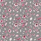 Naadloos patroon als achtergrond van roze Sakura-bloesem of Japanse bloeiende kers symbolisch van de Lente in willekeurig royalty-vrije illustratie