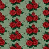 Naadloos patroon als achtergrond van rozen Stock Afbeeldingen