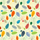 Naadloos Patroon - Autumn Leaves royalty-vrije illustratie