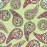 Naadloos patroon Aziatische elementen Paisley Stock Afbeelding