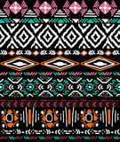 Naadloos patroon in Azteekse stijl stock illustratie